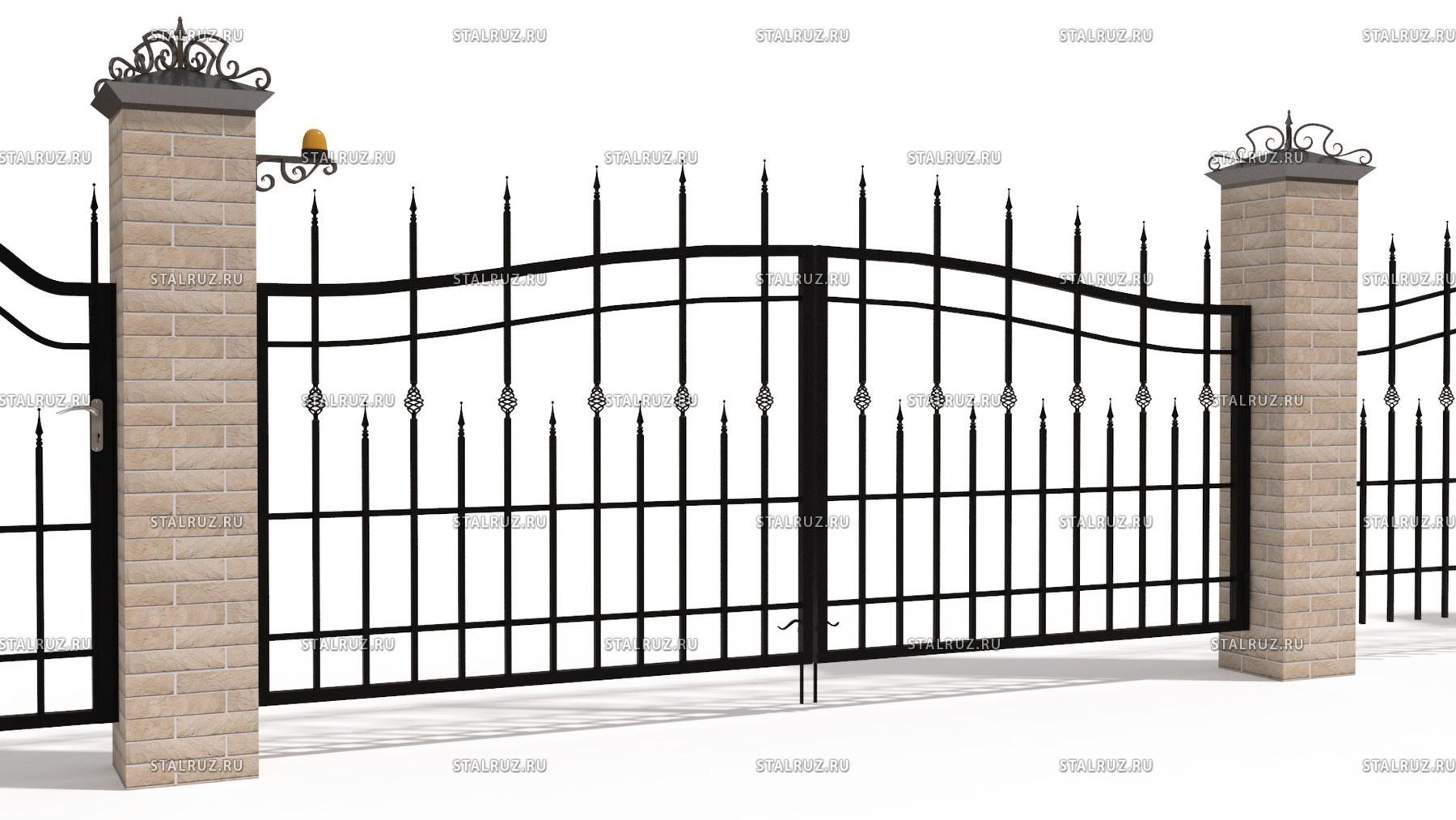 Распашные ворота в курске наборные бетонные заборы купить